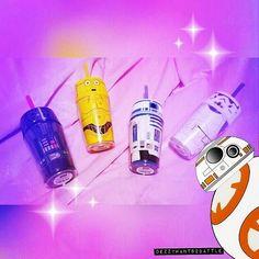 StarWars cups  . . . .  #starwars #kyloren #bb8 #c3po #r2d2 #darthvader #stormtrooper #cup #pink #kawaiidesu #kawaii #disneygram #711 #cute #drinks #yoda #obiwankenobi #lightsaber #limited #hansolo #chubaca #darkside #lukeskywalker #leia #returnofthejedi #revengeofthesith #empirestrikesback #forceawakening #nerd #collection