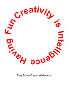 http://easyscreencapturevideo.com Creativity is Intelligence having Fun