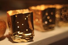Family Chic--luminarias from soda cans