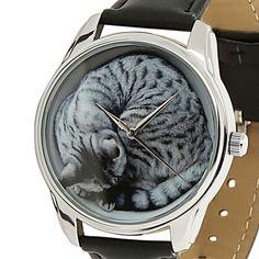 Wrist Watch Dial Cat Women Quartz Leather Analog Casual Cartoon Fashion Watches  #ZIZ #Fashion