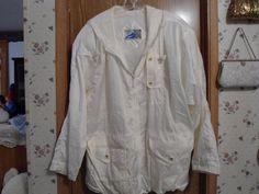 Women's 80s British Mist Large White Soft by simplepleasantthings