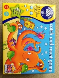 A review of the Orchard Toys game, catch and count.