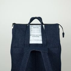 SALE ENDS TODAY: Handle Backpack 01 Denim