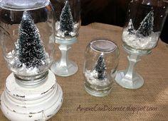 Mason Jar Snow Globes - DIY Tutorial