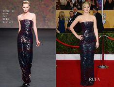 Jennifer Lawrence In Christian Dior Couture - 2014 SAG Awards