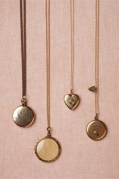 Collector's Lockets in SHOP Bridesmaids & Partygoers Jewelry at BHLDN