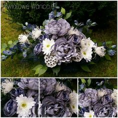 Sprawdź, co stworzyłem z - Grave Flowers, Funeral Flowers, Fall Home Decor, Autumn Home, Black Flowers, Silk Flowers, Memorial Flowers, Pics Art, Ikebana