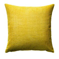 Living space: sofa cushion IKEA - GULLKLOCKA, Cushion cover, Chenille fabric feels ultra soft against your skin.The zipper makes the cover easy to remove. Classic Cushion Covers, Classic Cushions, Cushion Covers Online, Yellow Cushions, Ikea Yellow Cushion, Ikea Living Room, Yellow Art, Color Yellow, Chenille Fabric