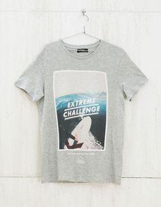 'Pool/Challenge/Freedom' top - T-shirts - Bershka United Kingdom
