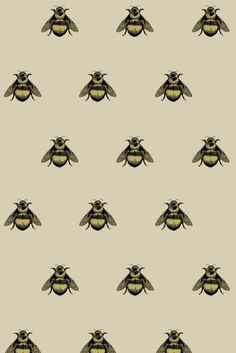 Timorous Beasties Fabric - Napoleon Bee. I love bee motifs, but it quickly becomes a little corny