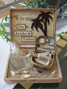 Geschenkgutschein Koffer Reisegutschein DIY Paper