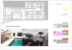 Planta terraza proyecto hotel Itaca Málaga