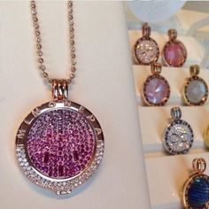 1pcs Pendant Necklace Hot Pink Cascada Disc Coin+Mi Moneda Deluxe Coin Keeper+Silver and Gold Plated Alegre Chain $14