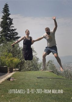 Lotte & Neils-18-07-2013 from-holland jump For Forestaria Organic Farm and B, Lucca, Tuscany