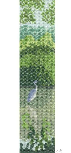 Blue Heron - Thomas Beutel Counted Cross Stitch Kit from Heritage Crafts