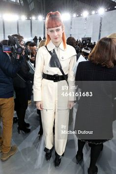 Owlle attends the Chanel show as part of…