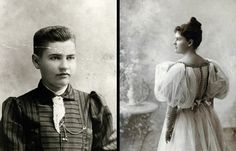 Willa Cather as a freshman (left) and upon graduation (Images: Willa Cather Archive)