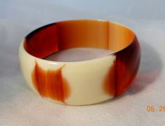 Vintage New Old Stock Lucite Bangle Root Beer by MelaniesFabFinds, $26.00