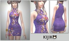 I made a Short Length Cheongsam Dress. This is the dress which is used for screenshots of Panda-Lan Lan hair. >>Download the Cheongsam Dress for the Sims 4 シムズ4用チャイナドレス作ってみました。 お団子ヘア、Panda-Lan Lan のスクリーンショットに使用したやつです。 >>こちらよりどうぞ。