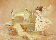 Discussion on LiveInternet - Russian Service Online Diaries Sewing Art, Flower Fairies, Fairy Art, Children's Book Illustration, Faeries, Art For Kids, Dragons, Fantasy Art, Fairy Tales