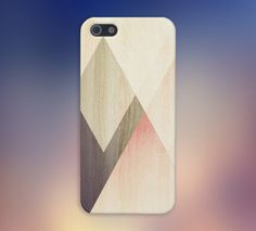 Geometric Accents x Light Wood Case for iPhone and Samsung Galaxy
