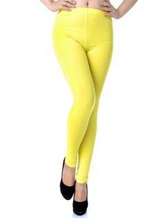 Anna-Kaci S/M Fit Yellow Bright Neon High Waisted Slim Leg Ankle Length Leggings Anna-Kaci. $15.90