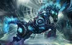 fantasia, cyborg, Arte, robô, cavalo, mecanismo