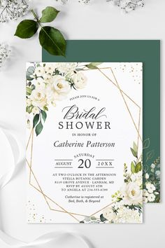 """""""Greenery White Rose Flowers"""" is one of the most popular theme for Weddings. We created amazing custom invitation designs offering a fully coordinating wedding suite for this theme from Invitations to RSVP card, Information Card, Labels, Sign Posters and more. Monogram Wedding Invitations, Floral Invitation, Zazzle Invitations, Bridal Shower Invitations, Invitation Design, Wedding Suite, Wedding Rsvp, Wedding Table, Floral Wedding"""