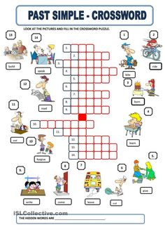 SIMPLE PAST - Crossword - Repinned by Chesapeake College Adult Ed. We offer free…