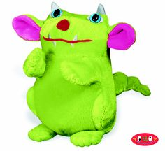 "Little Biddle Beast Soft Toy 4""  The monster who's afraid of monsters, Biddle Beast is ready to peek out from under the bed and show off his flocked nose and embroidered details.  Item #364  $10.00"