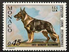 Berger Allemand German Shepherd Dog Postage