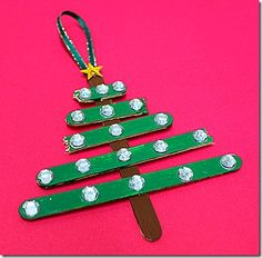 Gather up the kids and create a fun keepsake for your tree. Craft Stick Christmas Tree Ornaments are a cute and fun craft that kids will love to make. Grab your sticks, some paint and your favorite embellishments. Stick Christmas Tree, Christmas Past, Christmas Projects, Simple Christmas, Christmas Tree Decorations, Christmas Tree Ornaments, Christmas Gifts, Christmas Stars, Xmas Tree