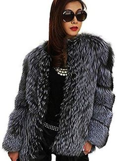 Silver Fox Fur  Coat Winter Outfits Women, Winter Coats Women, Cardigans For Women, Jackets For Women, Fur Coats For Sale, Heated Jacket, Fox Fur Coat, 2 Piece Outfits, Chic Dress
