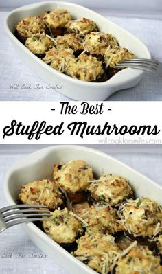 Greatest Stuffed Mushrooms that you'll ever tried! These are the greatest stuffed mushrooms that I've ever tried! Mushrooms stuffed with a mixture of cream cheese, herbs, onions and more cheese. Vegetable Dishes, Vegetable Recipes, Vegetarian Recipes, Cooking Recipes, Healthy Recipes, Burger Recipes, Venison Recipes, Finger Food Appetizers, Yummy Appetizers