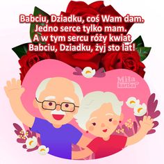 Grandma And Grandpa, Couple Cartoon, Grandparents Day, Family Guy, Poster, Diy, Fictional Characters, Angels, Poland