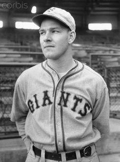 Mel Ott Posing in Baseball Uniform
