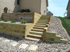 ideas for landscape timbers timber retaining wall stairs decks