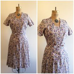 A personal favorite from my Etsy shop https://www.etsy.com/listing/268077947/1940s-1950s-floral-dress-40s-50s-prple