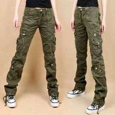 women-s-army-cargo-pants-Female-slim-casual-outdoor-women-s-overalls-pants-trousers-casual-pants. Cargo Jeans, Jeans Fit, Army Cargo Pants, Cargo Pants Women, Pants For Women, Look Hip Hop, Casual, What To Wear, Just For You