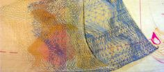 Detail of Nodes  by Kathleen Thum. Gouache and graphite on rice paper