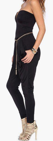 Harem Jumpsuit in Black #StreetFashion#CasualChic#VersatilePiece