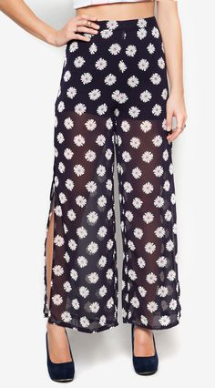 1a50ac2d7a220 Leave your basic pants behind! Flower Long Pants a collection by CPS. Pants  with