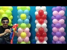 Easy Dollar Store Balloon Columns Tutorial! - YouTube
