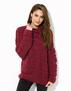 Book Woman Urban 91 Autumn / Winter | 44: Woman Sweater | Burgundy red / Ruby