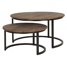 Salontafel rond, set van 2 d-Bodhi Fendy Collection Tafels