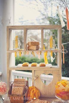 Peach & Yellow dessert table