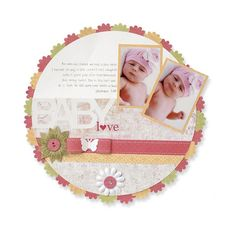 Blossom Place 'n' Punch Scrapbooking Layout Idea by Lisa Dickinson - Creative Memories Project Centre ___Detailed Instructions:  http://projectcenter.creativememories.com/photos/designer_lisa_dickinson/blossom-place-n-punch-scrapbooking-layout-idea-1.html  ___$24 ____#DIY __handmade #baby #album