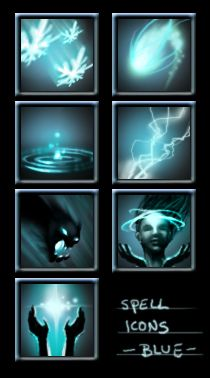 234 RPG Fantasy Spells Icons Bundle #graphicriver | for games | Game