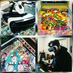 An awesome Virtual Reality pic! Local Arcade and Pinball was taken over with Virtual Reality using the Samsung GearVR! Minds were blown and fun was had!  #oculusvr #oculusrift #gearvr #samsung #samsunggearvr #oculus #vrmeetup #vrhmd #springfieldmo #thenerdstore #nerdstore #magicshop #virtualrealityworld #virtualreality #arcade #pinballmachine #pinball #middleearth @oculus @samsungmobileusa @gearvr by realitycheckvr check us out: http://bit.ly/1KyLetq