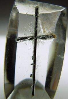 Tourmaline cross in Quartz